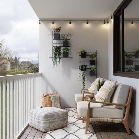 Arredare il balcone come una vera stanza di casa