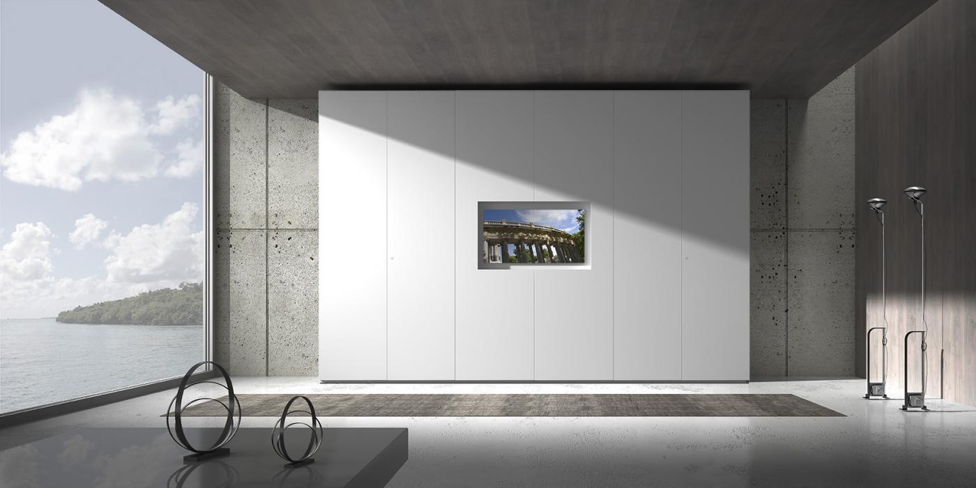 Armadio loft tv for Armadi da soggiorno