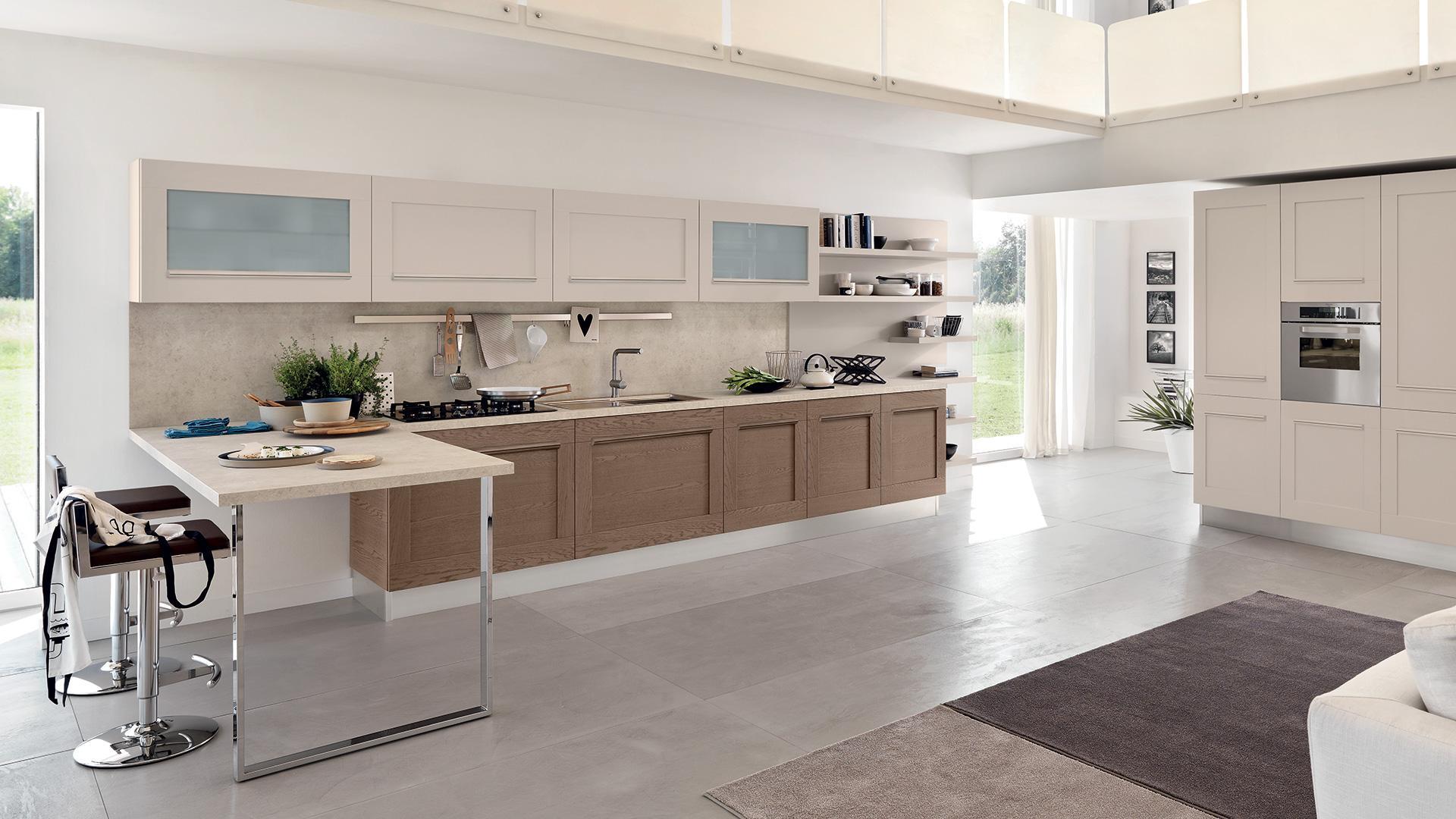Gallery cucina lube for Pavimenti per cucina e soggiorno